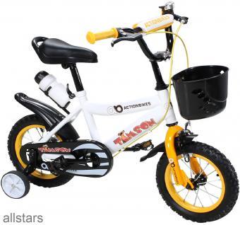 Kinderfahrrad 12 Zoll Hello Timson gelb Fahrrad ActionBikes