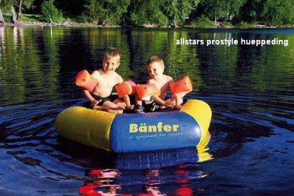 Bänfer Hüppeding 2 m Trampolin Schlauchboot Pool Kindertrampolin Bällebad Insel - Vorschau 3