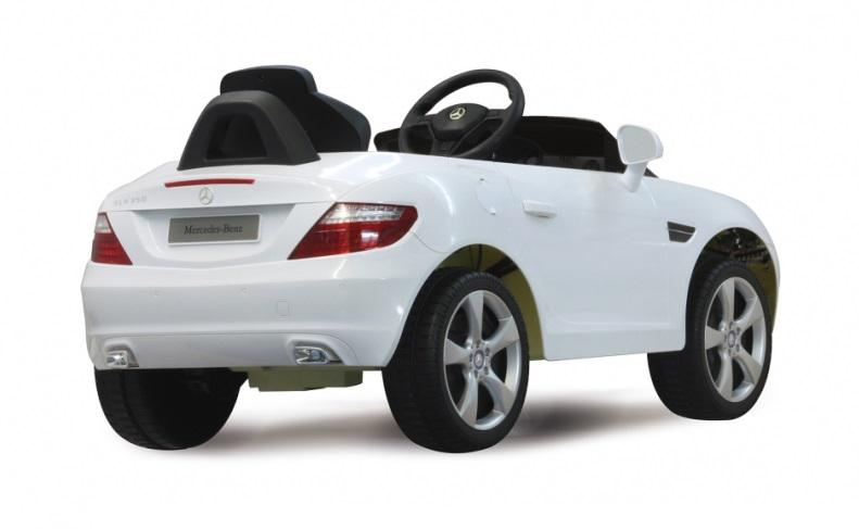 elektro kinderauto mercedes slk class 10 wei mit rc fernbedienung kaufen bei euro direkt. Black Bedroom Furniture Sets. Home Design Ideas