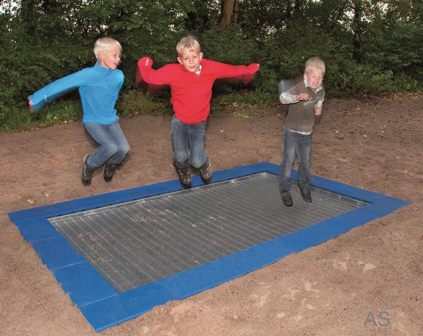 Ullmann giga einbautrampolin jump xl rechteckig 6 00 m for Boden direkt shop