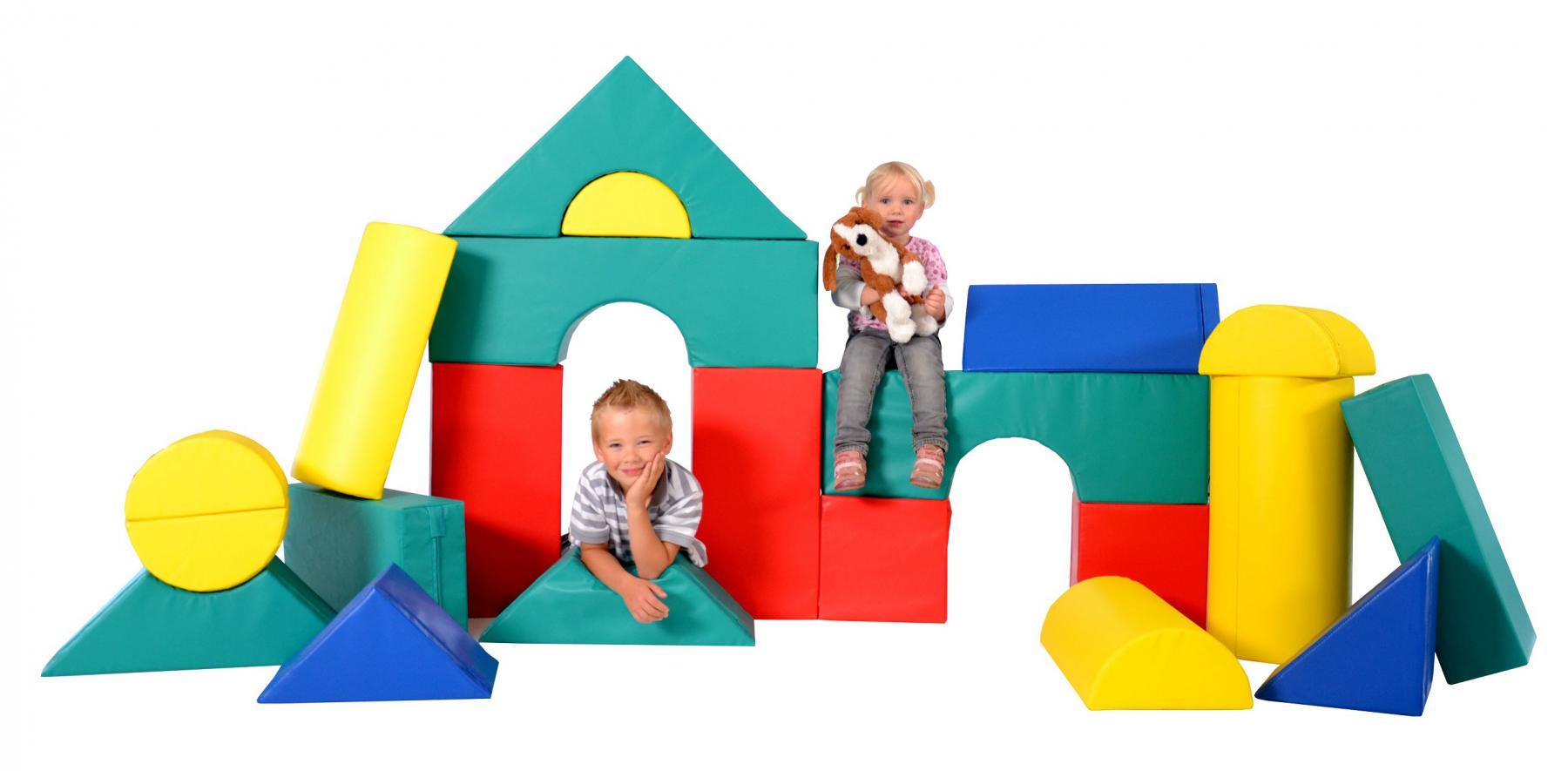 b nfer bausteinsatz 19 tlg softbausteine maxi bausteine gro bausteine schaumstoff kaufen bei. Black Bedroom Furniture Sets. Home Design Ideas