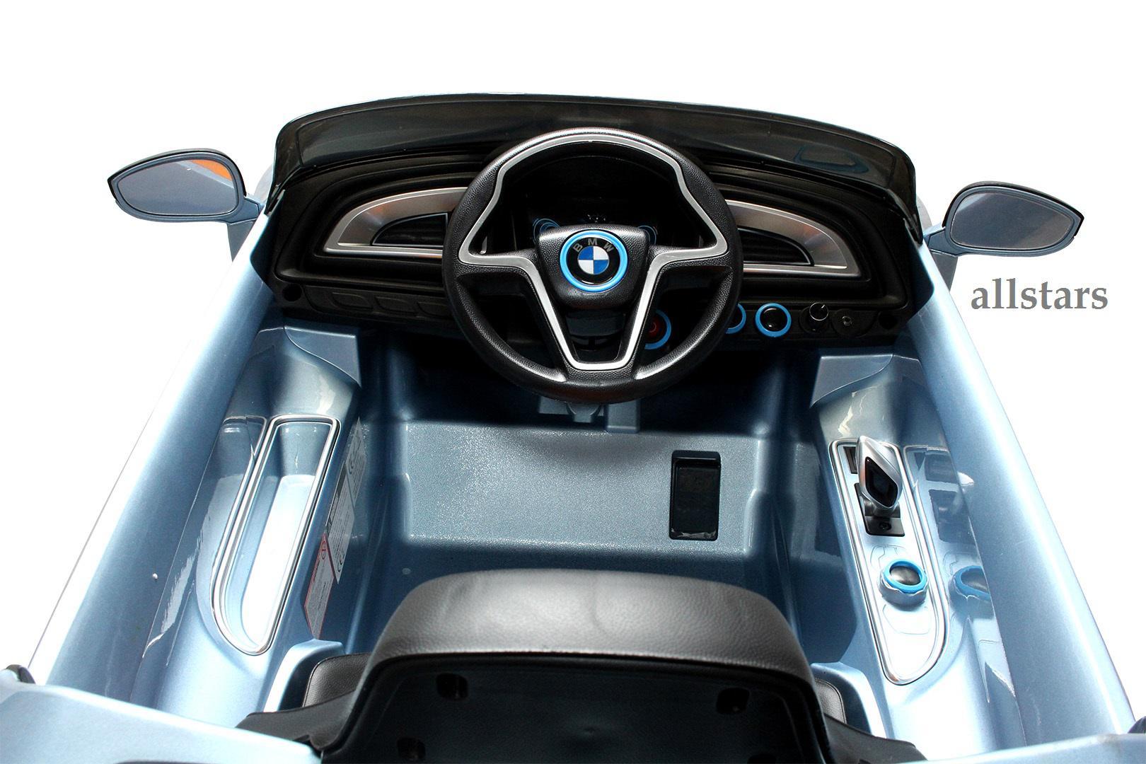 Allstars Kinder Elektroauto BMW I8 metallic-hellblau mit ...