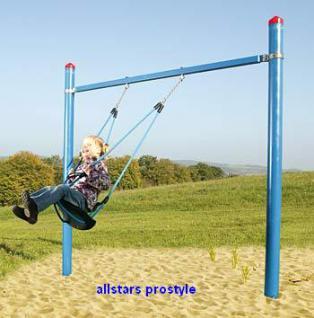 Schaukel Kleinkindschaukel Easy Swing offen Kinderschaukel mit 2 Stahlpfosten Babyschaukel Huck