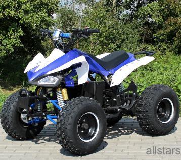 Quad Elektro-Quad Kinderquad E-Quad S-14 Speedy blau-weiss 1000W