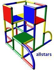MoveAndStic Großbaukasten Junior Spielburg Spielturm Kletterturm