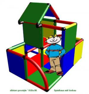 MoveAndStic Baukasten KiGa 6 Kletterturm Bausteine Spielhaus Spielturm Baukasten Systembaukasten Klettergerüst