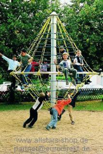 Karussell Kletterwirbel Kletterturm Spielturm Seilgerüst Kreisel Kletterkarrussel Seilkarussel Hally Gally Spogg GmbH