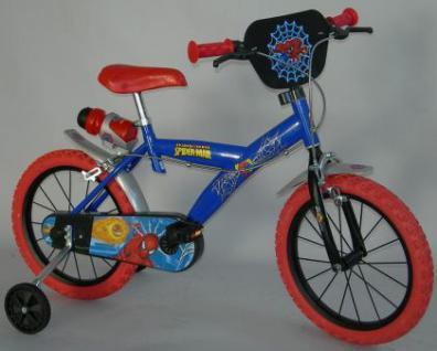 Fahrrad Kinderfahrrad DinoBikes Spiderman 12 Zoll Dino Bikes Kleinkindfahrrad mit PVC-Vollmaterialbereifung weiss/pink 2 Bremsen