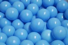 Bänfer Bällebad Therapiebälle Bälle 500 Stück 60 mm Therapie-Bälle im Sack blau