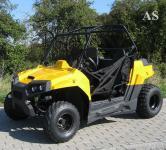 Allstars Buggy Dinky Quad 150cc Straßenzulassung 2 Sitze schwarz-gelb