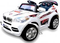 Allstars Elektro-Kinderauto E-Auto BMX Cabrio 2 Sitzer weiss