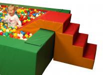 Bänfer Treppenrutsche groß Rutsche Kleinkindrutsche Ballbad Treppe Bällebad