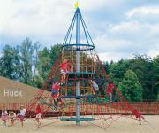Huck Kletterturm Seilnetz-Pyramide Dino 1 + Erdanker Kletterpyramide Vogelnest