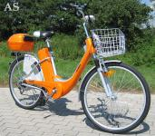 "Allstars Elektrofahrrad 26"" City Line orange"
