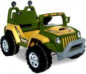 allstars Kinderauto 60W Elektro-Jeep gelb-grün