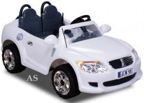 allstars Kinderauto Elektroauto Zweisitzer E-Auto B15E weiss