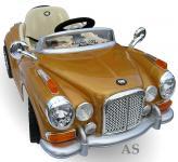 allstars Kinderauto JE128 Elektroauto Oldtimer E-Auto Sportwagen gold-metallic