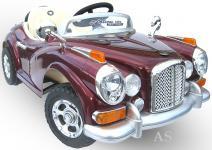 allstars Kinderauto JE128 Elektroauto Oldtimer E-Auto Sportwagen rot-metallic