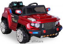 Allstars E-Kinderauto Super Elektro Jeep metallic rot Hummer-Optik KL-88