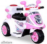 Allstars Kindermotorrad Elektro Trike LS-128A pink Dreirad Elektrodreirad