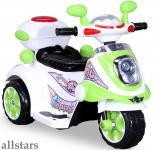 Allstars Kindermotorrad Elektro Trike LS-128A grün Dreirad Elektrodreirad