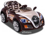 Allstars Kinderauto Kinderelektroauto Veyro Style 5659 Kinder-Elektroauto braun