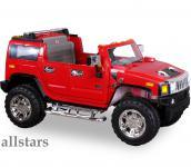 Allstars Kinder Elektroauto Jeep Hummer H2 Kinderauto E-Kinderauto rot Geländewagen