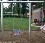 Beckmann Schaukel Schaukelgestell Stahl + 1 Ausleger Basis plus und 1 Babyschaukel