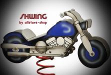 Allstars SHWing Federwippe Motorrad Harley Wippe Spielplatz-Wippe Fliwi