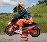 Allstars SHWing Federwippe Motorrad Moped Wippe Spielplatz-Wippe Fliwi