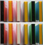Beckmann HDPE-Sandwich-Platte 1.500 x 1.500 x 19 mm durchgefärbt 5 Platten 11, 25 m² blau/gelb/blau