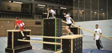 Turnen Parcour Balken 2, 5 m Modulsystem Parkour Breitensport Hallensport Bänfer