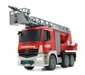 Jamara RC Auto Feuerwehr Leiterwagen 1:20 LED Mercedes Spritzfunktion Funk