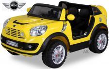 Kinderauto Elektro BMW Mini Beachcomber 2-Sitzer Fernbedienung gelb