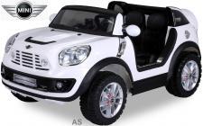 Kinderauto Elektro BMW Mini Beachcomber 2-Sitzer Fernbedienung weiss