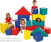 Softbausteine Bausteine Großbausteine Set 18+2 Allstars für Therapie Kindergarten