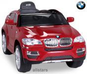 Elektro Kinderauto BMW X6 lizenziert E-Auto 90 W Fernbedienung rot