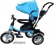 Allstars Kinderkarre Kinderwagen 7 Funktionen Kinderbuggy blau