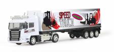 Jamara RC Auto Container-LKW 1:32 weiß mit Licht Truck Funk