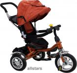 Allstars Kinderkarre Kinderwagen 7 Funktionen Kinderbuggy braun