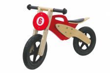 Jamara Laufrad rot Moto Holz Rad Bike Lauflernrad Kinderlaufrad Holzrad