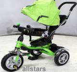 Allstars Kinderkarre Kinderwagen 7 Funktionen Kinderbuggy grün