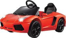 Jamara Ride on Car Lamborghini Aventador orange Kinderauto Kinderfahrzeug mit E-Motor zum Selbstfahren Elektroauto mit RC-Fernbedienung