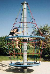 Karussell Turmkreisel Kletterturm bunter Spielturm Seilgerüst Kreisel Kletterkarrussel Seilkarussel Hally Gally Spogg GmbH