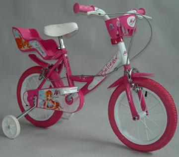 Fahrrad Kinderfahrrad DinoBikes Winx 12 Zoll Dino Bikes Kleinkindfahrrad mit PVC-Vollmaterialbereifung weiss/pink 2 Bremsen