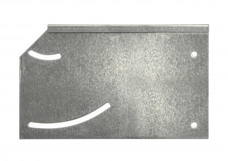 Rasenkanten Gefälleprofil variabel zur Überbrückung von Böschungen für Rasenkante Metall 1180 x 120 x 95 mm