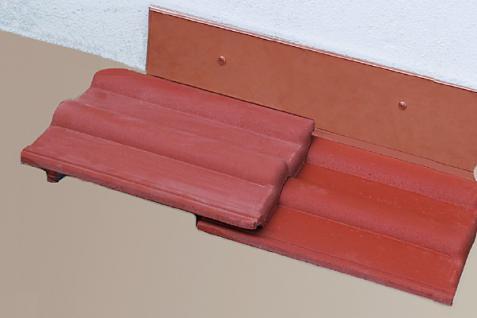Vario Wandanschluss Seite Titanzink oder Kupfer 1, 15 m rechts oder links - Vorschau 2