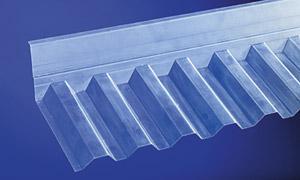 Wandanschluss Trapez 70/18 für obere Wandanschlüsse nur für PVC Wellplatten Trapez 70/18 1090 mm