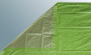 Holzabdeckplane Gewebeplane 80 g/m² für Holzabdeckung 1,5 x 10 m mit doppeltem Rand und Ösen (0,60 EUR/qm) - Vorschau 2