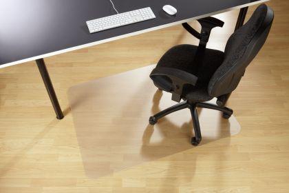 Floortex Bodenschutzmatte 120 x 90 cm aus PVC für glatte Böden - Vorschau 1